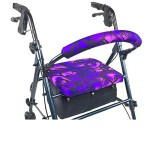 Crutcheze Purple Tribal Rollator Walker Seat and Backrest Covers Designer Fashion Accessories Made in USA
