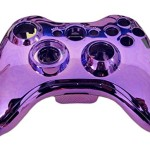 GameXcel ® Custom Bright Purple Finished Replacement Kit Xbox 360 Controller Shell Case Cover with Button Parts