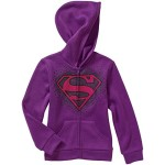 DC Comics Girls' Supergirl Knit Sweater Zip Hoodie M(7/8)