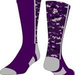 TCK Digital Camo Crew Socks (Purple, Small)