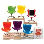 Retro Chair Cell Phone Stand (red)