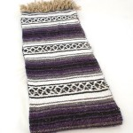 Hand Woven Classic Mexican Yoga Blankets Purple