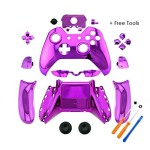 YTTL® Purple Chrome Controller Housing Shell for Microsoft XBOX ONE Wireless Controller with 3.5 mm headsets jack
