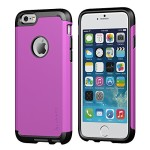 iPhone 6s Plus Case, LUVVITT [Ultra Armor] Shock Absorbing Case Best Heavy Duty Dual Layer Tough Cover for Apple iPhone 6/6s Plus – Black / Purple