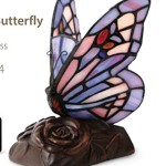 Purple Butterfly Keepsake Lamp – Resin and Stained Glass Urn