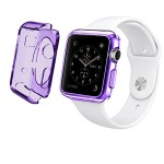 Apple Watch Case,2win2buy [Purple Transparent] Apple Watch 38mm Clear Case Slim [Perfect Fit] TPU Flexible Soft Rubber Case Full Body Apple Watch Cover for 38mm Apple Watch – Clear Purple