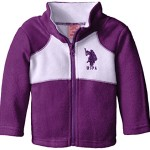 US Polo Association Baby-Girls Polar Fleece Jacket, Purple/Lavender, 12 Months