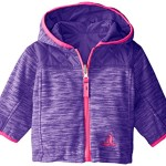 Rugged Bear Baby-Girls Newborn Reversible Space Dye Jacket, Purple, 3-6 Months