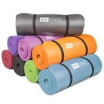 Fit Spirit® 1/2 Inch Comfort NBR Exercise Yoga Mat – Purple Mat