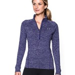 Under Armour Women's Tech 1/2 Zip Twist Shirt, Europa Purple/Metallic Silver, X-Small