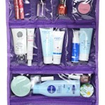 WODISON Transparent Clear Hanging Travel Toiletry Cosmetic Organizer Storage Bag Purple