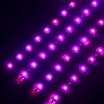 AGPtEK® 4 x 30cm 15 Leds Waterproof Flexible Light Strip Bar, Car Light Flexible Strip- Purple