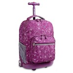 J World New York Sunrise Rolling Backpack (Love Purple)