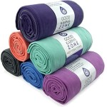 Bikram Hot Yoga Towel – STOCK CLEARANCE – Microfiber Non Slip Skidless Yoga Mat Towels for Yoga, Exercise, Fitness, Pilates (Purple)