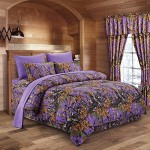 The Woods Purple Camouflage Queen 8pc Premium Luxury Comforter, Sheet, Pillowcases, and Bed Skirt Set by Regal Comfort Camo Bedding Set For Hunters Cabin or Rustic Lodge Teens Boys and Girls