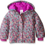 Carter's Little Girls' Puffer Coat in Print, Purple Floral, 2T