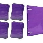 (25) XBox 360 Kinect Replacement Transparent Purple Game Cases – VGBR14XP