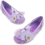 Disney Store Little Girls Sofia the First Shoes Sz 7/8 Purple