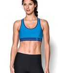 Under Armour Women's Mid Sports Bra, Jazz Blue/Europa Purple/Jazz Blue, Large