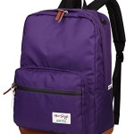 [HotStyle City Outdoor] 915s Vintage College School Laptop Backpack, Purple