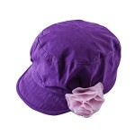 Toubaby Kid Girls Flower Sun Hat Baby Gilr's Beret Cap Purple 0-6t (1-2years old)