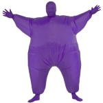 Rubie's Costume Inflatable Full Body Suit Costume, Purple, One Size