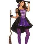 Leg Avenue Women's Crafty Vixen Witch Costume, Black/Purple, Small/Medium