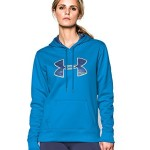 Under Armour Women's Big Logo Printed Hoodie, Jazz Blue/Europa Purple/Misted Yellow, Medium
