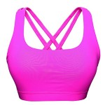 TXZTrade Women's Padded Wireless Stretch Criss-cross back straps Workout Yoga Sports Bra TXZ9005-Purple-M