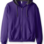 Fruit of the Loom Men's Full-Zip Hooded Sweatshirt – Extra Sizes, Purple, XXX-Large
