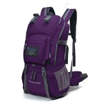 Mountaintop Outdoor Waterproof Hiking Daypack Climbing School Backpacks (Purple)