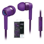 NEW Philips SHE7055PP CitiScape In-Ear Headphones For Smartphones SHE7055 Purple