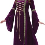 Fun World Costumes Plus-Size Funworld Deluxe Renaissance Lady, Purple, 16W-24W(Plus Size)
