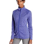 Spalding Women's Linear Stripe Fleece Zip Jacket, Purple Vibe Combo, X-Large