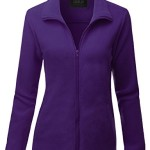 Doublju Womens Day-to-Night Thermal 3/4 Sleeve Jacket VIOLET,M