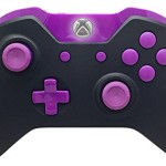 Black and Purple Xbox One Modded Controller with Rapid Fire and Compatible With All Games 1 Advanced Warfare