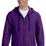 ?Gildan Adult Heavy Blend? Full-Zip Hooded Sweatshirt (Purple) (2X-Large)