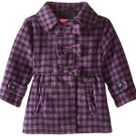 Pink Platinum Baby Girls' Wool Coat with 3 Bows, Purple, 24 Months
