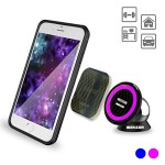 MagOn (TM) – iBenzer Everywhere One-Touch Smartphone Magic holder, Car Office Home Kitchen Bathroom and School Compatible, Retail Packaging, Purple CMH-MG01PU