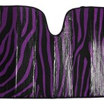 Purple Zebra Printed Car Front Windshield Automotive Sun Shade