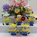 1 X Despicable Me 2 The Minions One Eyed Purple Minion Role Figure Display Toys SET by Dinglongshan