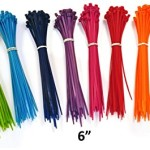 Nylon Cable Ties – 6″ – Multi Color (Blue, Red, Green, Yellow, Fuschia, Orange, Gray, Purple) – 500 Pieces