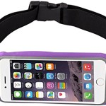 uFashion3C Running Belt Pouch Case/ Waist Fanny Pack for iPhone 6, 6S, 6 Plus, 6S Plus, Galaxy S5, S6, S7, Edge, Note 3, 4, 5, LG G3, G4 G5 with OtterBox/ LifeProof Waterproof Case (Purple)