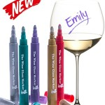 Wine Glass Markers – Metallic Pens – Pack of 5 Wine Markers – Vibrant Colors – Wine Glass Charms – Fun Wine Accessories – Write on any glassware – Easy Erasable – 100% Satisfaction Guarantee