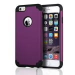 iPhone 6 Cases, iPhone 6S Case, BENTOBEN Ultra Slim iPhone 6 Covers Hybrid Hard Plastic Shell with Silicone Dual Layer Protective Bumper Shockproof Covers for iPhone 6 6S 4.7 Inch, Purple&Black