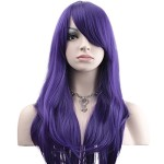 YOPO 28″ Wig Long Big Wavy Hair Women Cosplay Party Costume Wig(Purple)