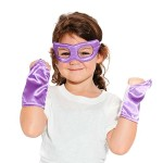 Purple Superhero Eye Mask and Powerbands – Kids