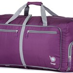 "Sports Duffle Bag for Gym Gear or travel – with shoes pocket – 23"" (Medium, Purple)"
