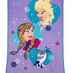 Disney Frozen Magical Sisters Coral Fleece Blanket, Purple/Blue