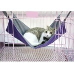 Voberry® Summer Winter Available Dual Use Cat Bed Mat Oxford Fabric Pet Cages Hammock Under The Chair (Purple, L)